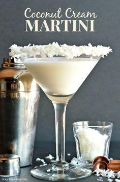 Coconut Cream Martini #drinks #recipe