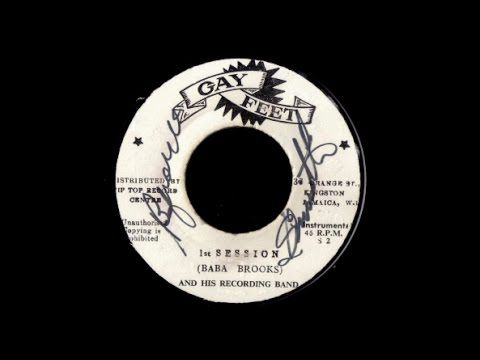 "Baba Brooks - 1st Session (And His Recording Band) Reggae \ Instrumental Ska 7"" (P)1965 Gay Feet JA"