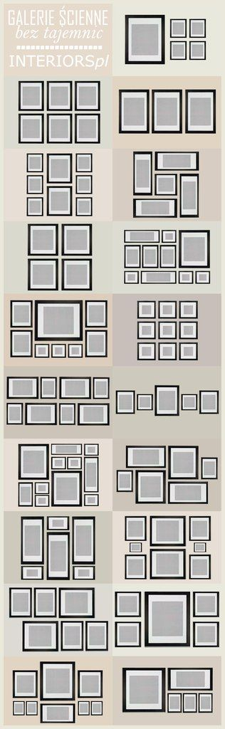 how to organize photo frames on the wall!