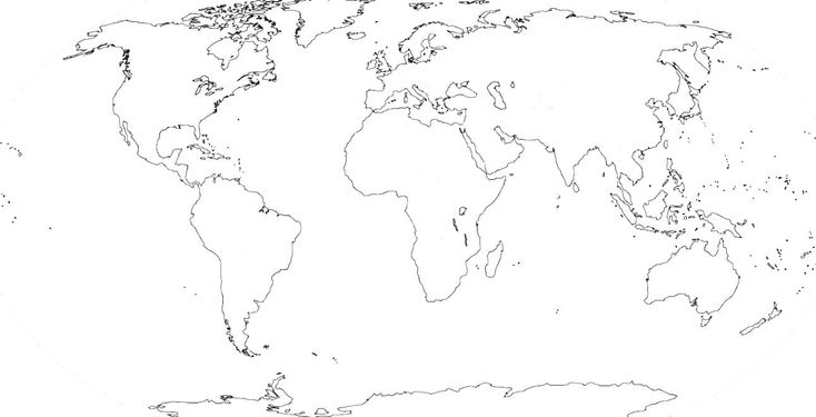 World Physical Map Black And White