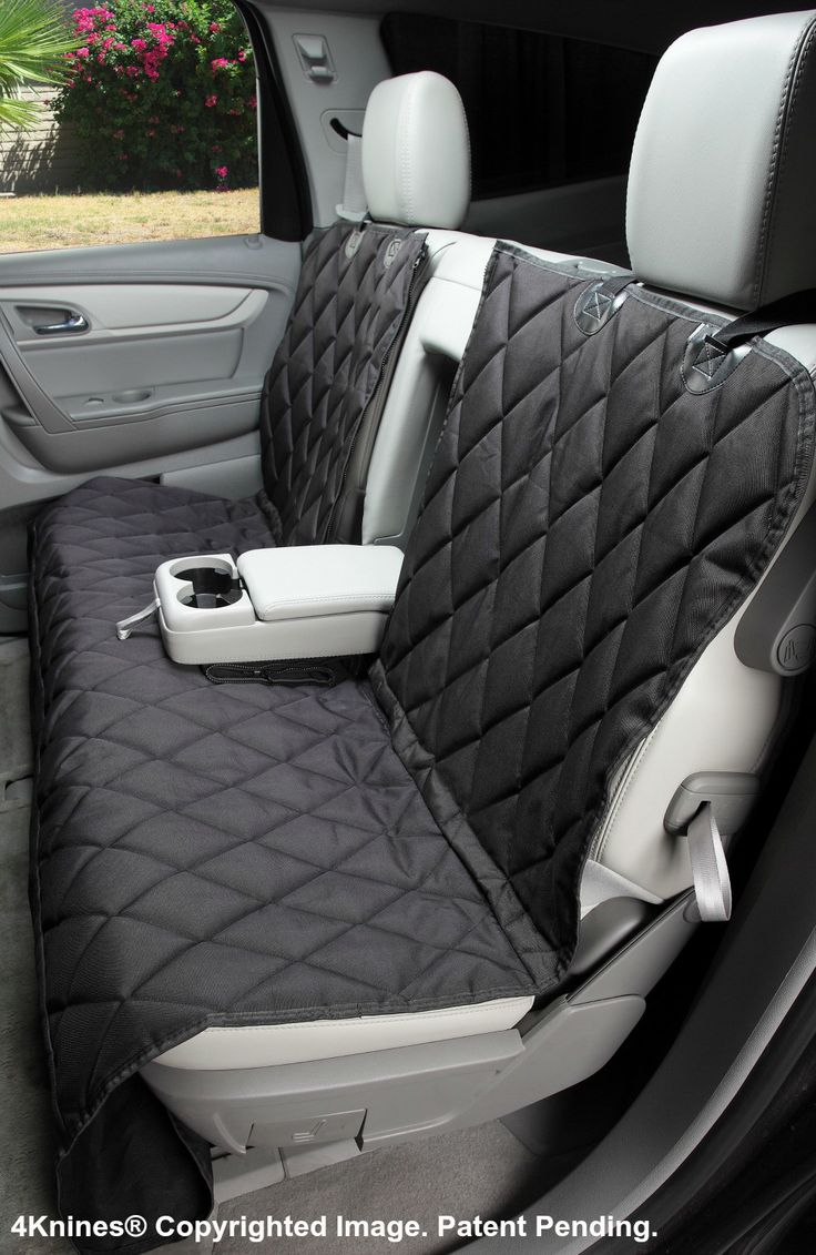 Split rear seat cover for dogs hammock option black xl