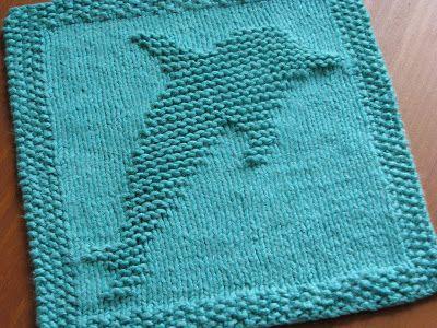 One Crafty Mama: Dolphin Dishcloth