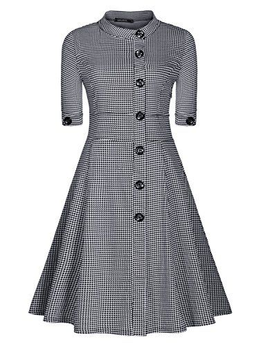Miusol Women Casual Stand-Up Collar Vintage Houndstooth-Print Slim Summer Dress Miusol http://www.amazon.com/dp/B00WLXVRTC/ref=cm_sw_r_pi_dp_5qXEvb0JQJNWV