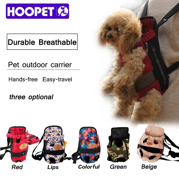 HOOPET Dog carrier fashion red color Travel dog backpack breathable pet bags shoulder pet puppy carrier //Price: $16.46      #shopping