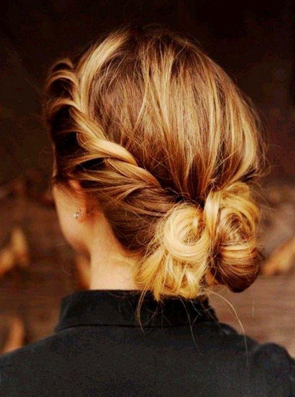 Messy bun with a twist. #hair