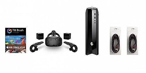 HTC Vive 5 Items Bundle: HTC Vive Virtual-Reality Headset & Alienware X51-Series Desktop Package 16GB 256GB with 2 Mytrix HDMI Cable and 3 Games