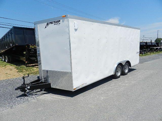 Homesteader 8.5 x 18 Enclosed Car Hauler – V-Nose