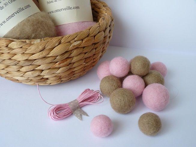 Ô Merveille ! - Créations décoratives en feutre de laine, laine cardée et laine feutrée
