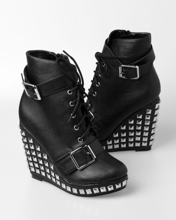 Abbey Dawn Hell Yeah Wedge - Black