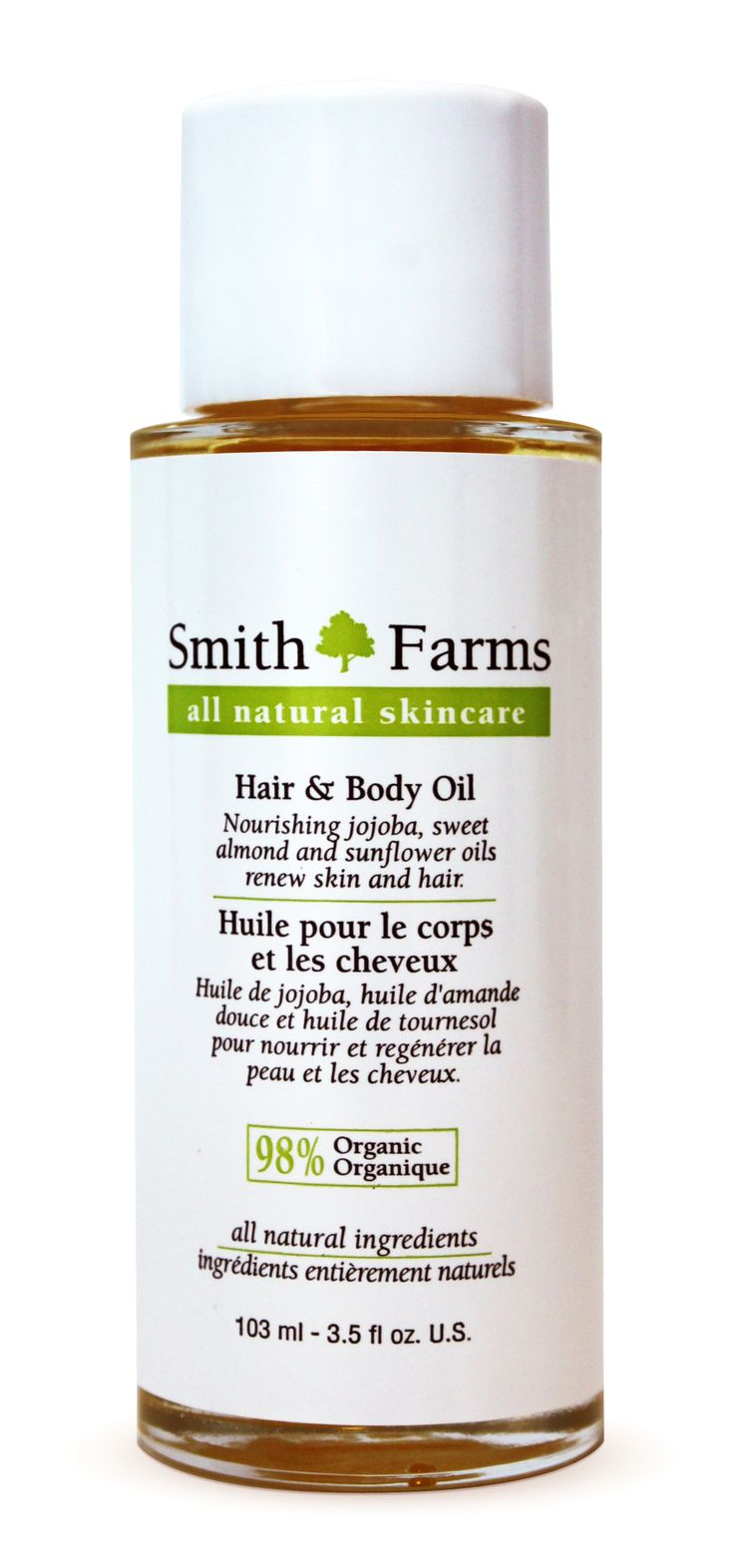 One third each jojoba, sweet almond and sunflower oil this light and fast absorbing oil is as good for your hair as it is for your skin. Enriched with vitamin E and honeysuckle essential oil, this multipurpose oil is as decadent as it is hardworking.