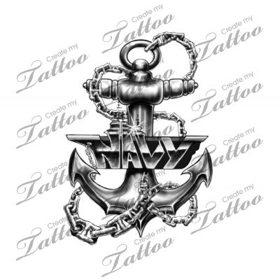 Marketplace Tattoo Navy tat #4898   CreateMyTattoo.com