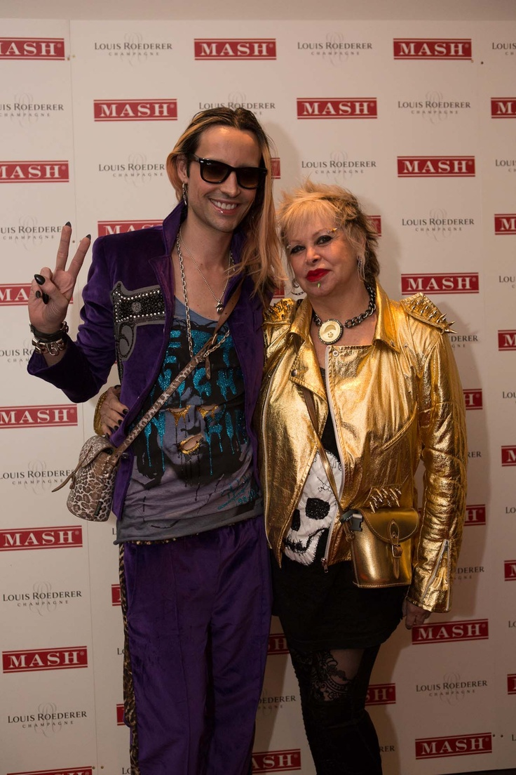 Rocky and Taytum Mazzilli at the launch of MASH London