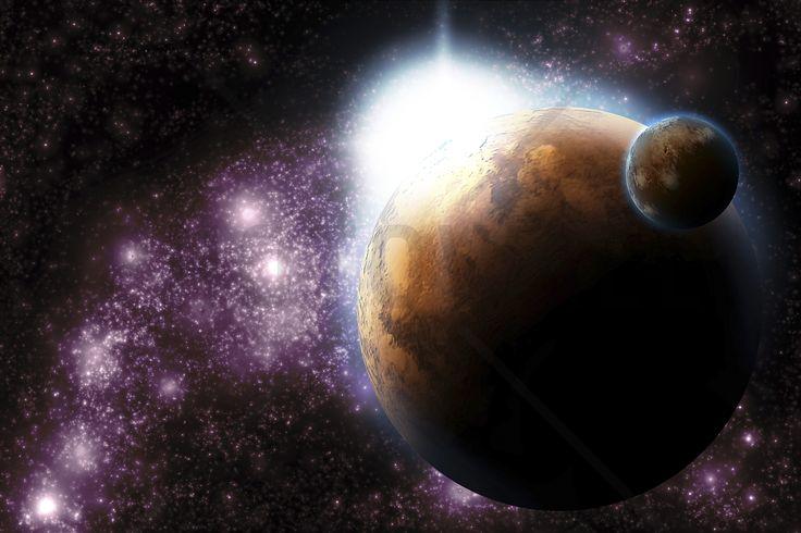 Sun Flare in Deep Space - Fototapeter