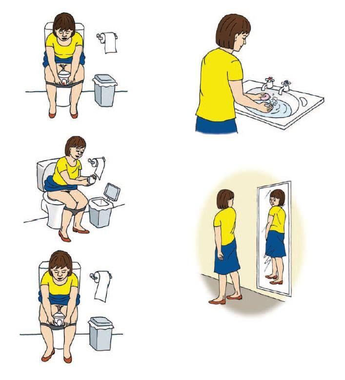 Puberté filles Changer sa serviette hygiénique