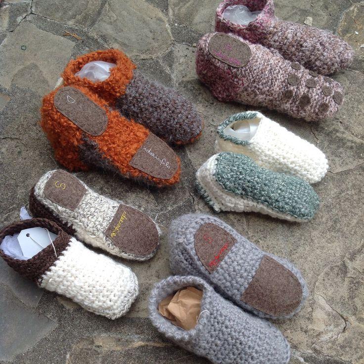 Pantofole in lana vari colori e misure!