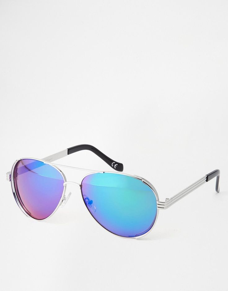 Jeepers Peepers Mirror Aviator Sunglasses