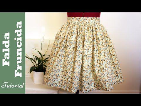 Falda fruncida fácil y rápida de hacer. Tutorial paso a paso. DIY Costura No os perdáis este video tutorial para aprender a hacer vuestra propia falda frunci...