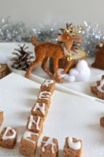 Petits pains d'épices à la crème de marron façon Scrabble (vegan, sans gluten) •Vegan and gluten free chestnut cream gingerbread Scrabble #Xmas #christmas #natale #navidad #cake #children #enfant