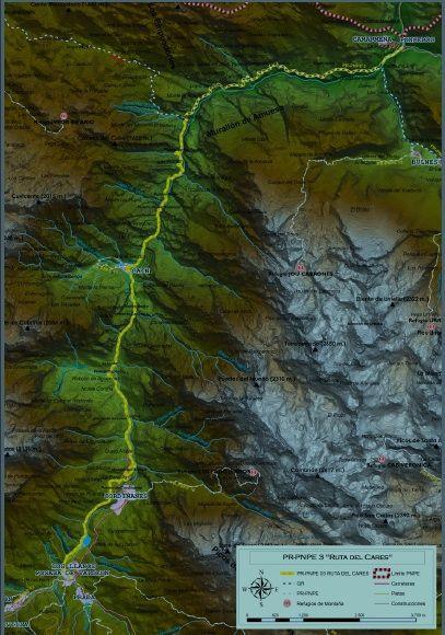 mapa ruta del cares
