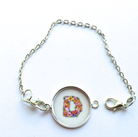 Initial Bracelet-Personalized-Monogram by Funjewelryshop on Etsy