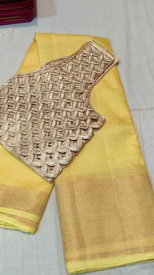 Kota saree with kutch blouse