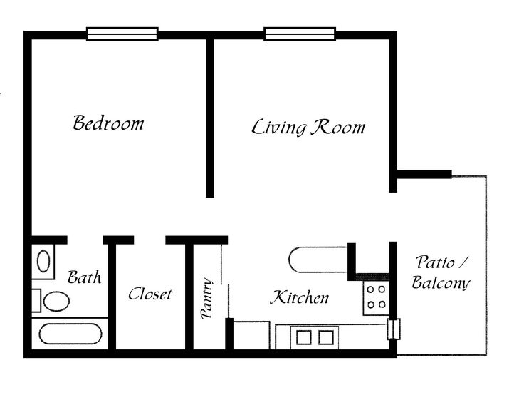 17 best ideas about simple floor plans on pinterest for Basic home floor plans