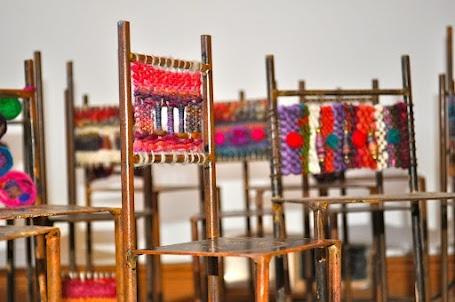 El Taller de la Oveja: Sillas de Metal con Fieltro Tapestry project for Hill?