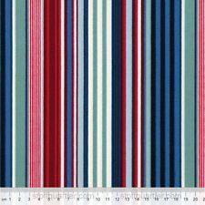 Streifen blau-rot-türkis 0,50 m STOFF Makower Baumwolle Patchwork Basteln Deko