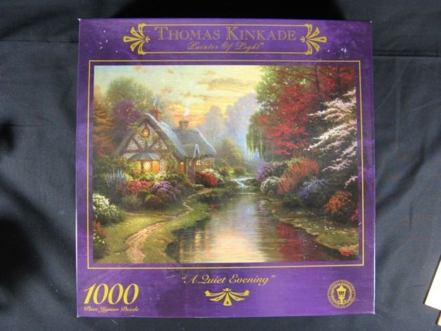 Thomas Kinkade Puzzle  A Quiet Evening  1999