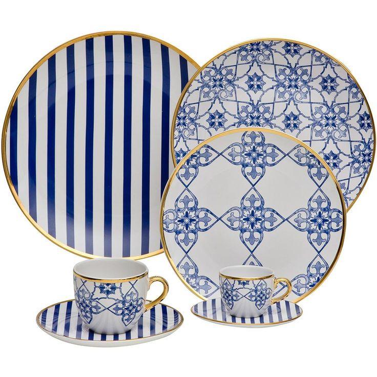 Aparelho de Jantar 30 peças Porcelana Lusitana - Oxford Porcelanas