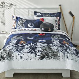 Nhl 39 breakaway 39 collection comforter set for Housse de couette in english