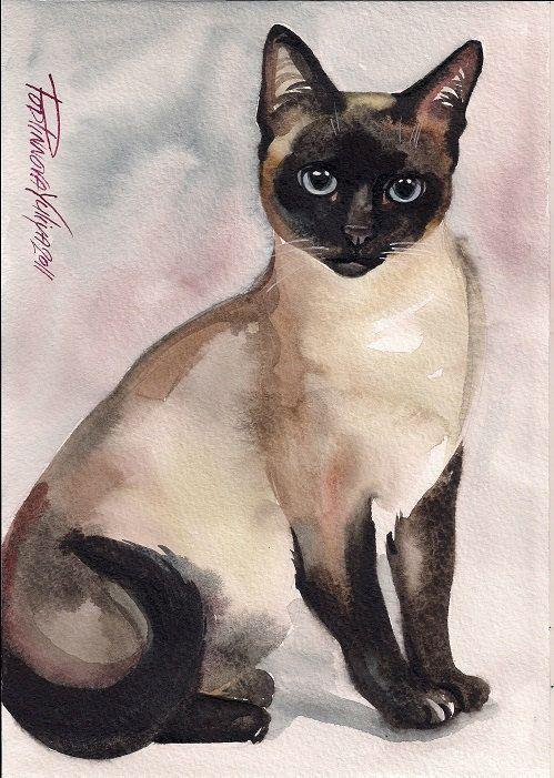 Afdrukken van aquarel kat schattig Kitten door creativeartistic
