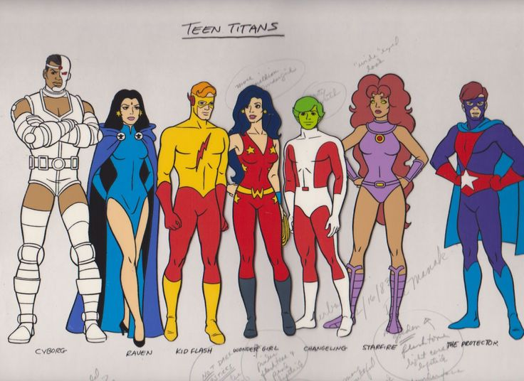 """cosmiclegendsoftheuniverse: """" Teen titans animated series would have been epic! However the stylesheet was for an anti drugs PSA. """""""