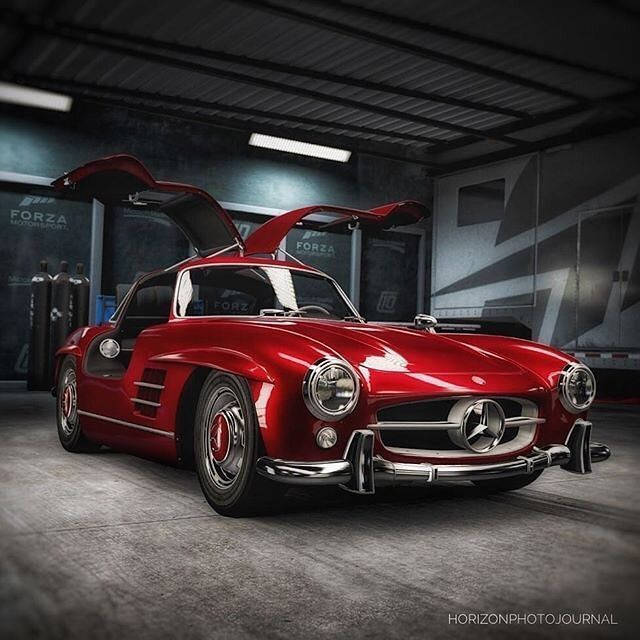 Mercedes Benz # 300SL #Gullwing / Pic via Instagram (Varganator) # 300SLRestorat …   – Auto