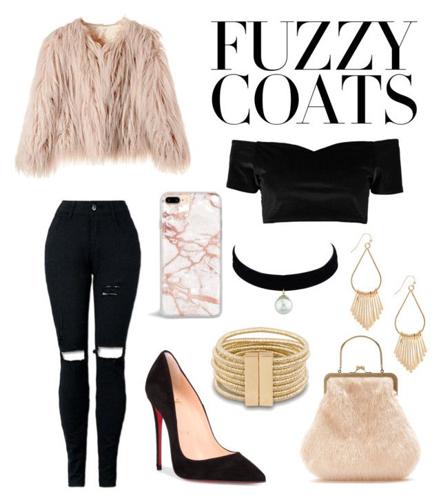 """""""Untitled #128"""" by fashionstyleideas4now on Polyvore featuring Boohoo, Christian Louboutin and Shrimps"""