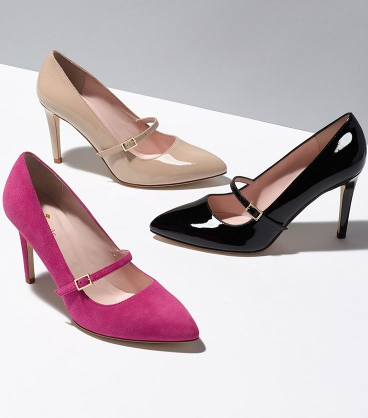 Love Kate Spade's take on mary-janes with these adorable pumps!