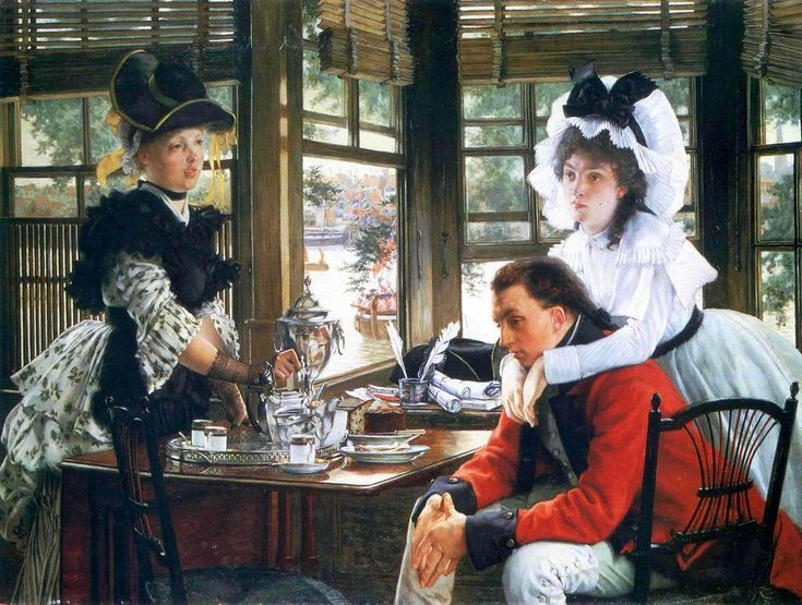 James Tissot, Bad News, 1872, Oil on canvas, 69 x 91 cm, National Museum of Wales, Cardiff