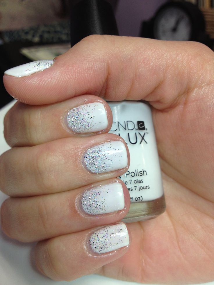 vynalux in quotstudio whitequot with silver glitter nail art