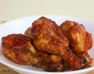 Slow Cooker Spicy Barbecued Drumsticks. These are delicious. Perfect for a day when you're not grilling.  Yum!!