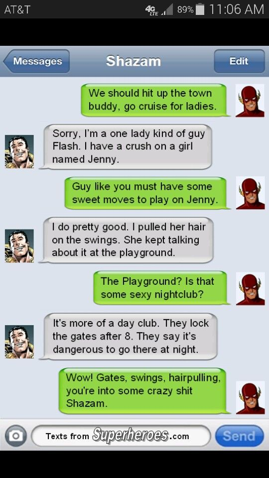 Shazam and Flash, before an awkward meeting withe Justice League