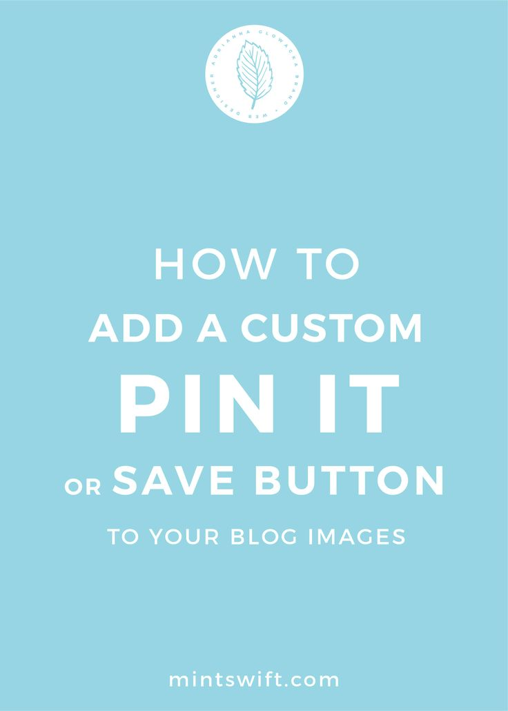 As I've mentioned in one of my posts, Pinterest is one of my largest source of traffic and it's a game changer for most bloggers. Key to blog success on Pinterest is sharing Pinnable blog post images, so having vertical images, with large text, your website address, and brand colours/photos. Adding custom pin it button to your blog images, is another way to get people to pin your content more often. The custom Pin it button will appear when they hover a mouse over your images...