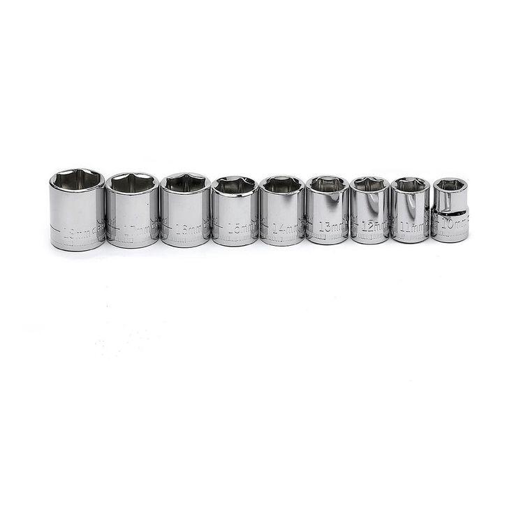 Craftsman 9 pc. 6 pt. 3/8 in. Drive Metric Socket Set #Craftsman