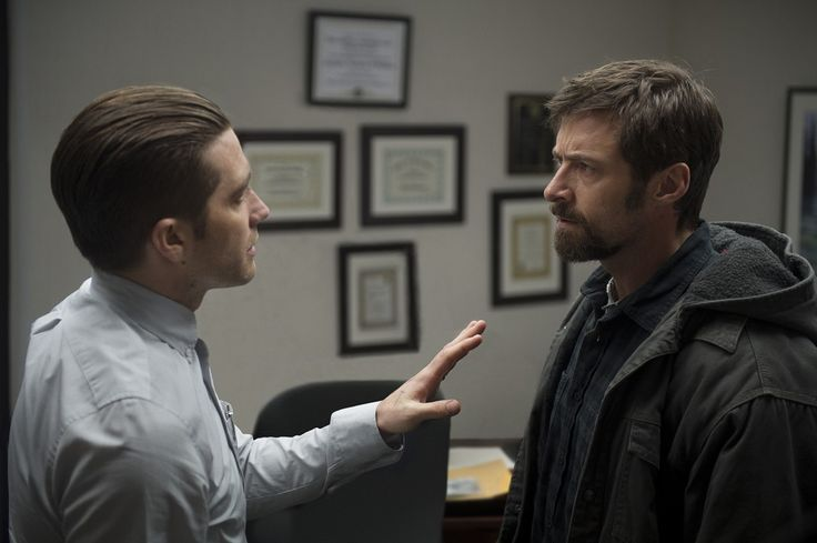 """(L-r) JAKE GYLLENHAAL as Detective Loki and HUGH JACKMAN as Keller Dover in Alcon Entertainment's dramatic thriller """"PRISONERS,"""" a Warner Bros. Pictures release. Copyright: © 2013 ADF ACQUISITIONS LLC, ALL RIGHTS RESERVED Photo Credit: Wilson Webb"""