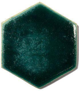 Ceramiczny kafel podłogowy Hexan Nautilius. Handmade,  Kaflrnia - Manufaktura Dekor - Kafle