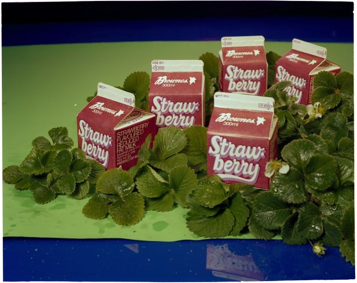 222663PD: Advertising shot for Brownes Strawberry flavoured milk, ca.1983 http://encore.slwa.wa.gov.au/iii/encore/record/C__Rb5550961