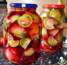 """Зеленые помидоры """"100 граммов"""" - упругиe, вкусныe и очень красивыe, а яблоки на вкус - моченыe. Обсуждение на LiveInternet - Российский Сервис Онлайн-Дневников"""