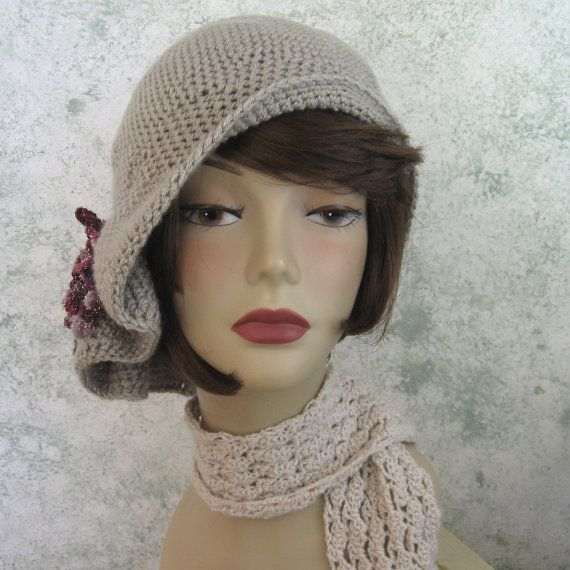Crochet Pattern Womens Hat Flapper Style Hat With by kalliedesigns