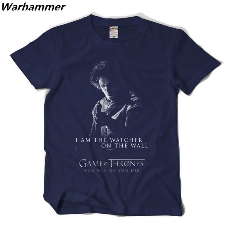 Warhammer Game Of Thrones Shirt I'm the watcher on the wall Mens Fashion T-shirt You win or You die customized t shirts #Affiliate