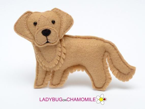 Felt Golden Retriever Dog Stuffed Felt Golden Retriever Etsy Dog Toys Your Pet Dog Supplies