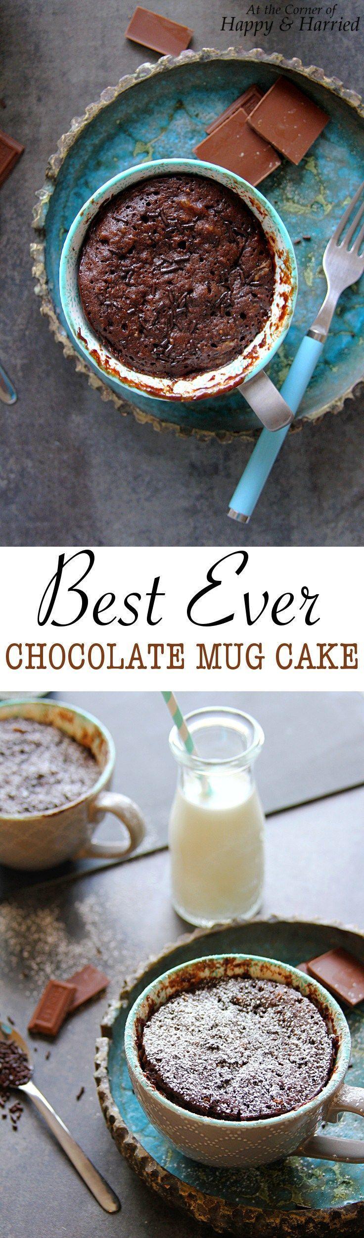 BEST EVER CHOCOLATE MUG CAKE - HAPPY